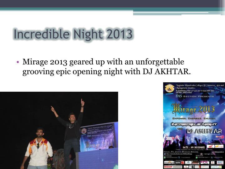 Incredible Night 2013
