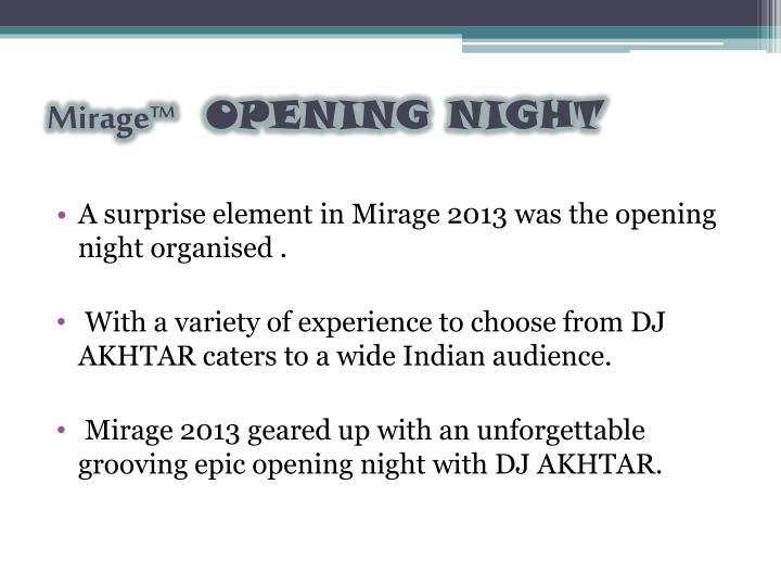 Mirage™