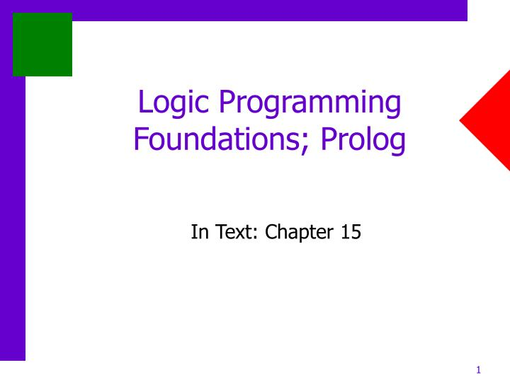 constraint logic programming in prolog hanjie Constraint programming for a couple of years i have been interested in (and fascinated by) constraint programming and constraint logic programming (clp.
