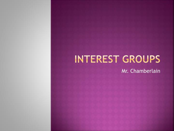 interest groups n.