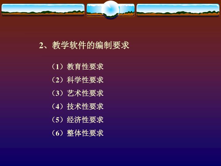 2、教学软件的编制要求