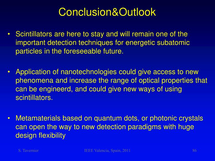 Conclusion&Outlook