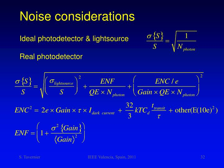 Noise considerations
