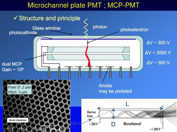 Microchannel plate PMT ; MCP-PMT