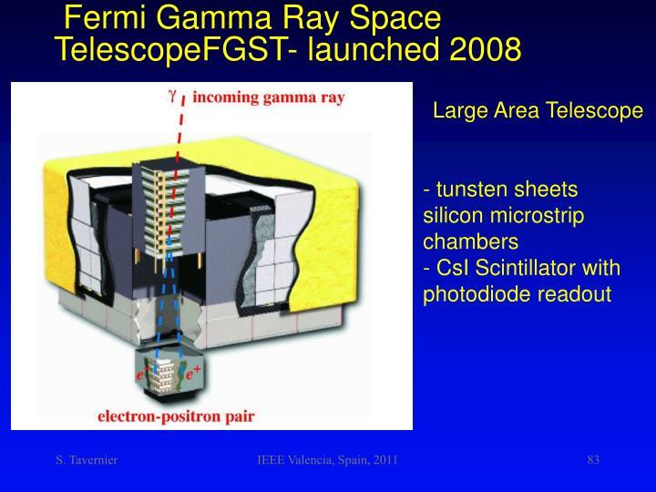 Fermi Gamma Ray Space TelescopeFGST-