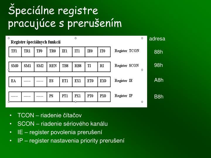Špeciálne registre