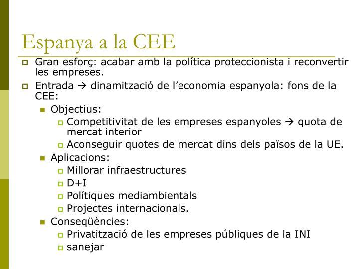 Espanya a la CEE