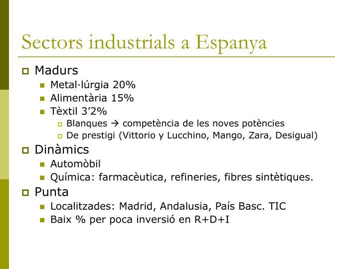 Sectors industrials a Espanya