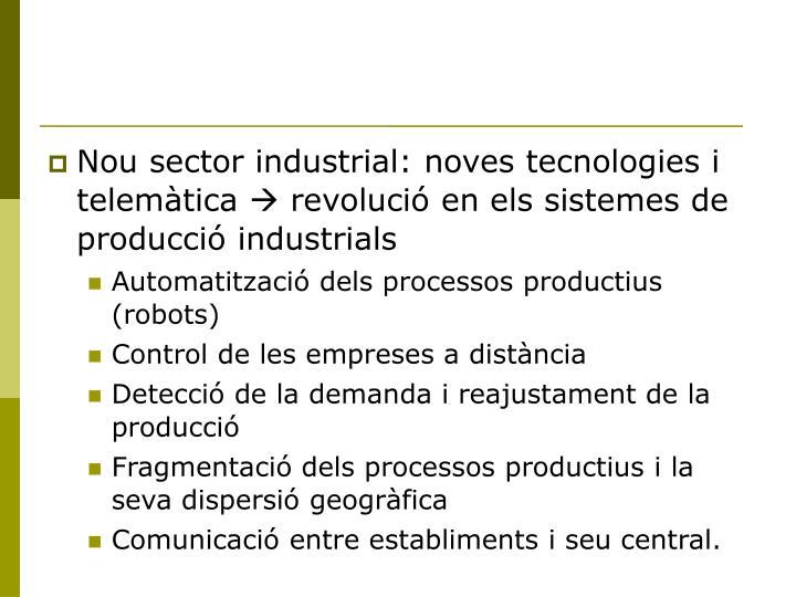 Nou sector industrial: noves tecnologies i telemàtica
