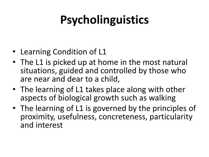 essay on psycholinguistics Psycholinguistics free essays - studymode essays - largest database of quality sample essays and research papers on psycholinguistics thesis about psycholinguistic.