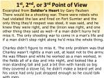 1 st 2 nd or 3 rd point of view1