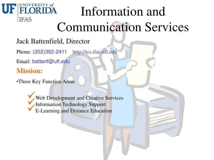 information and communication services n.