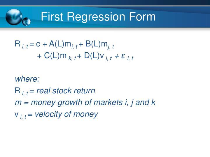 First Regression Form
