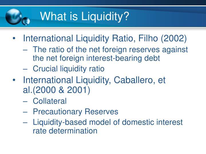 What is Liquidity?