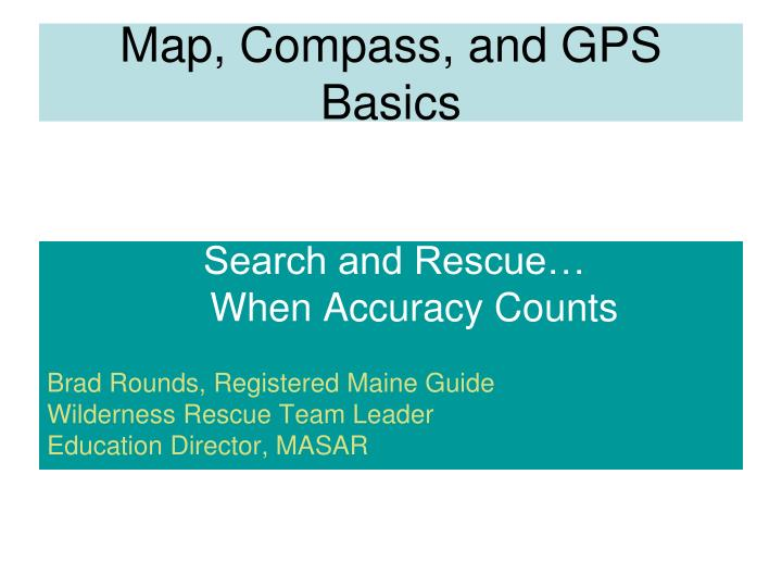 map compass and gps basics n.
