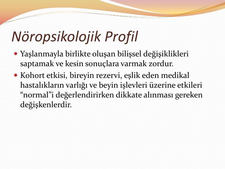 Nöropsikolojik Profil
