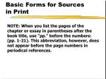 basic forms for sources in print3