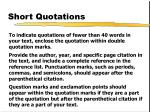 short quotations