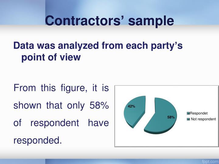 Contractors' sample