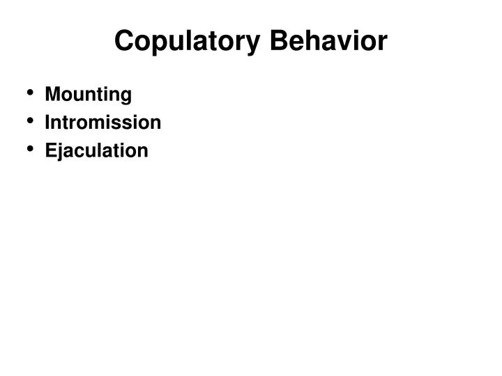 Copulatory Behavior