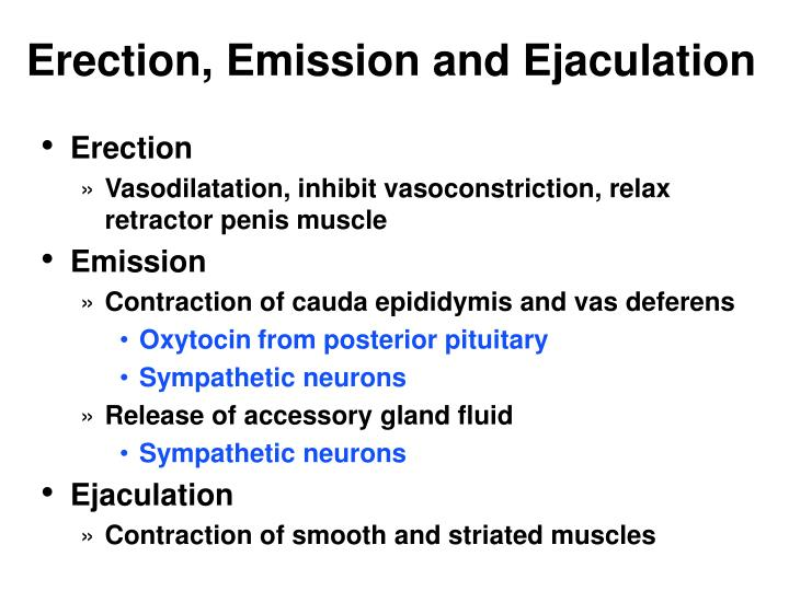 Erection, Emission and Ejaculation