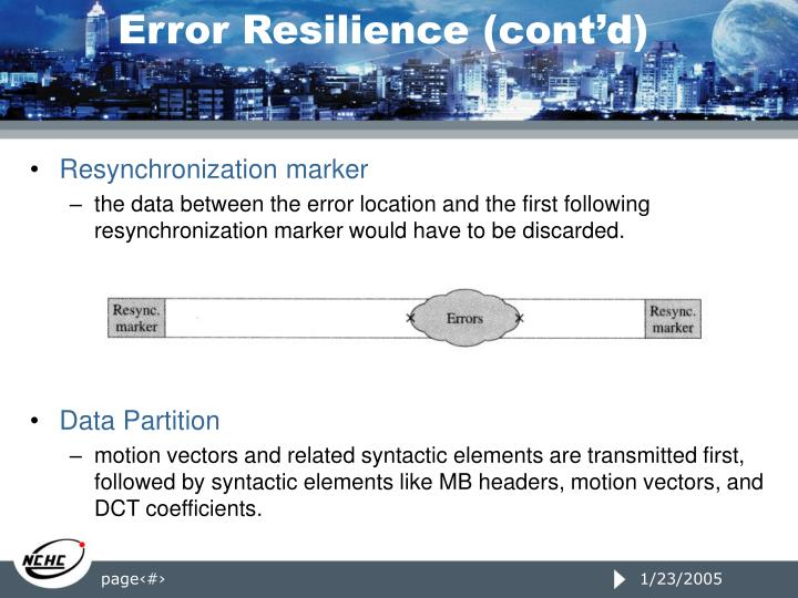 Error Resilience (cont'd)