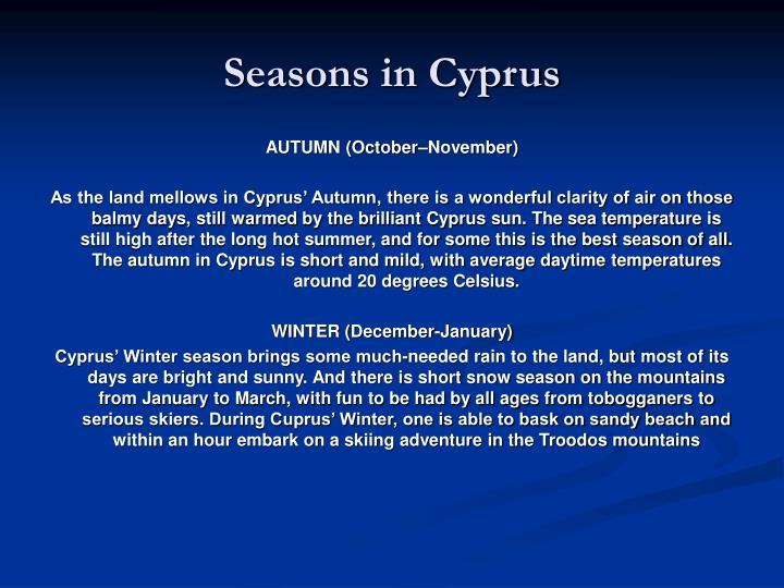 Seasons in Cyprus