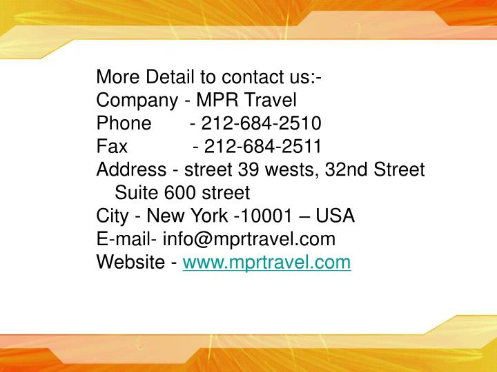 More Detail to contact us:-