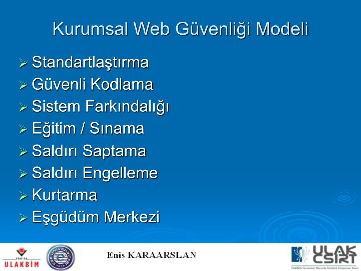 Kurumsal Web Güvenliği Modeli