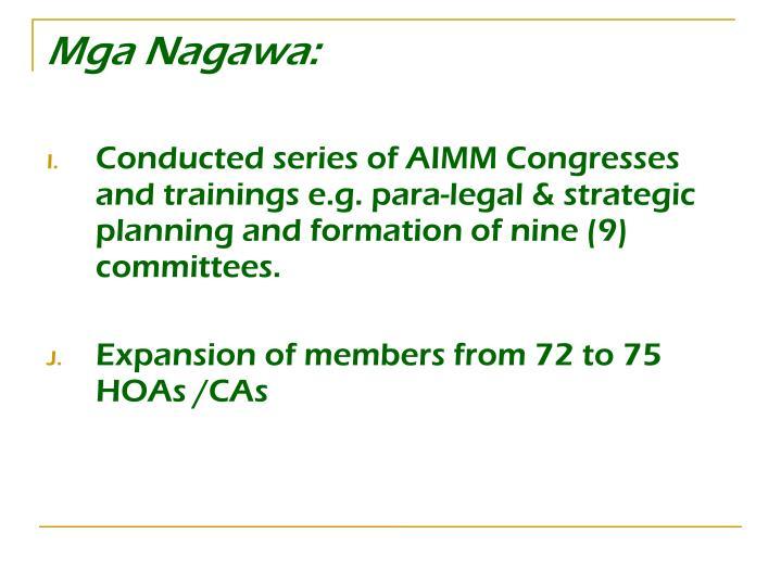 Mga Nagawa: