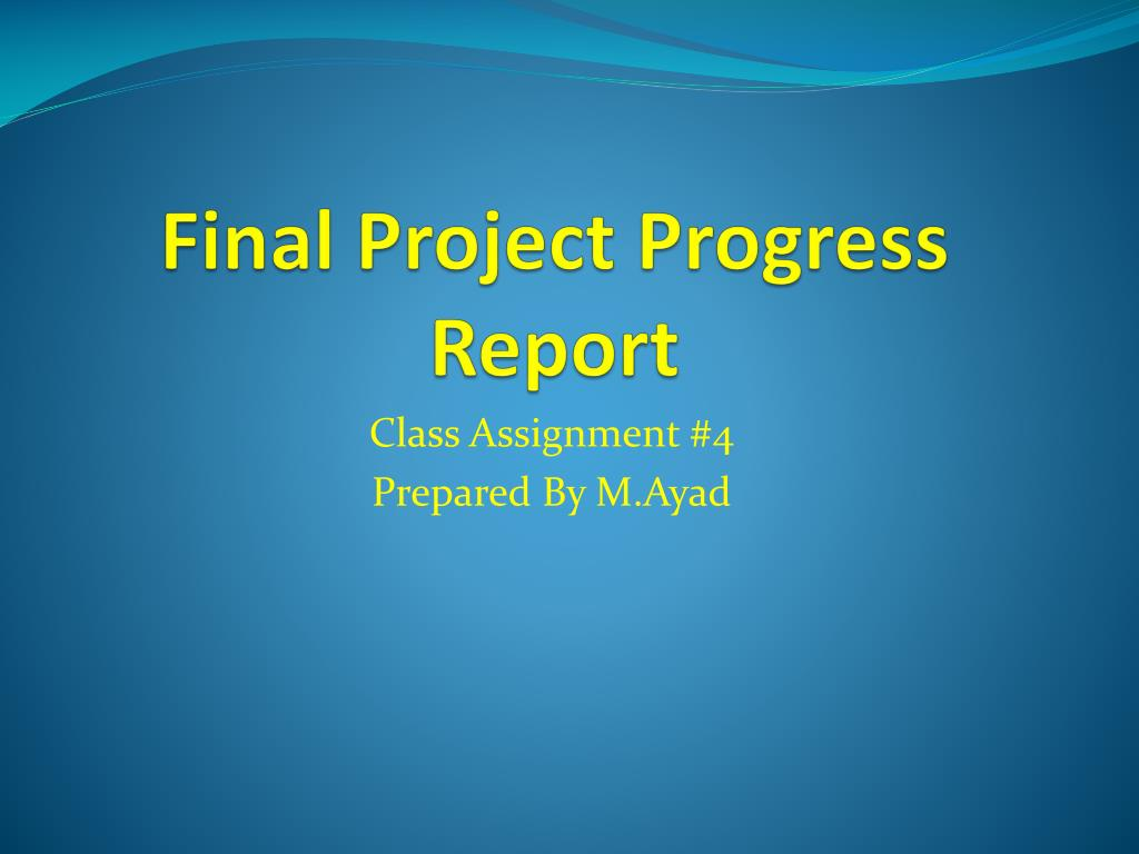 project status report ppt