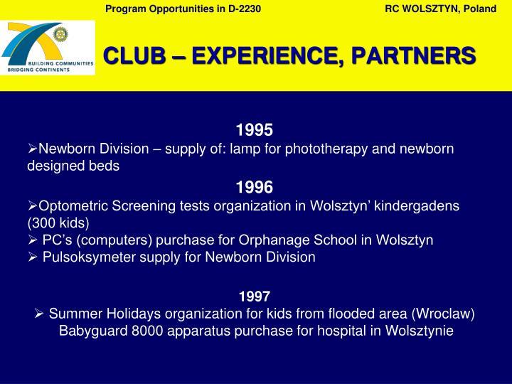 C lub experience partners
