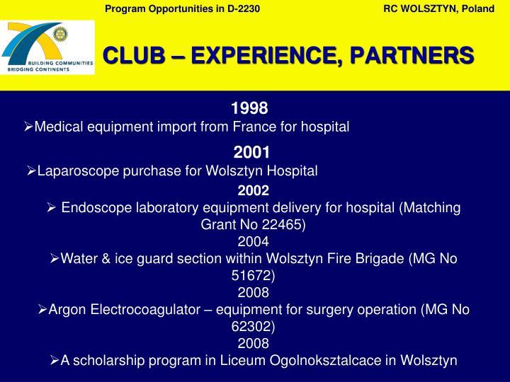C lub experience partners1
