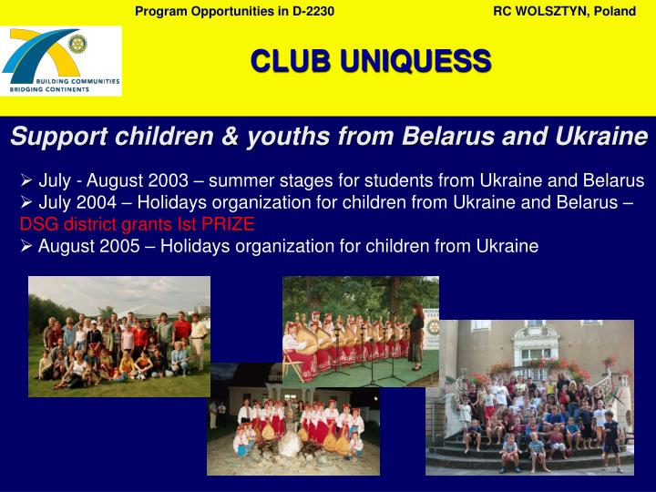 Support children & youths from