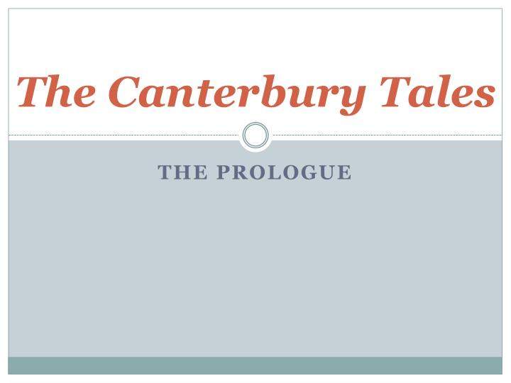 the canterbury tales n.