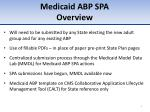medicaid abp spa overview