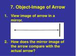 7 object image of arrow