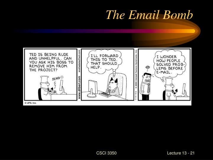 The Email Bomb