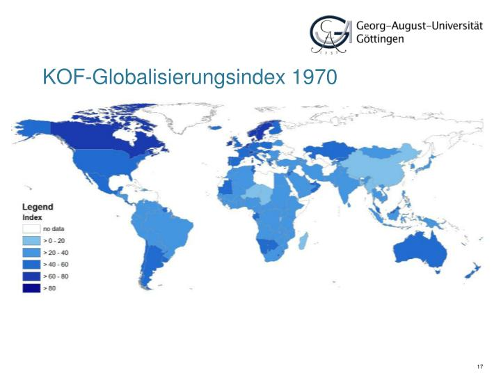 KOF-Globalisierungsindex 1970