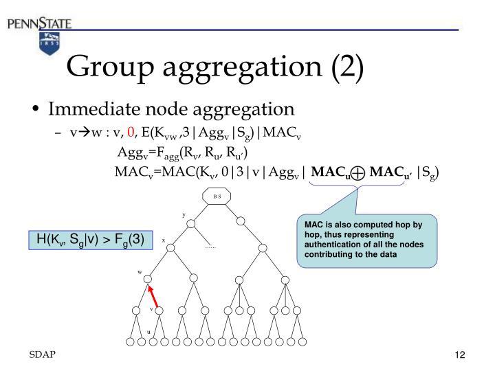 Group aggregation (2)