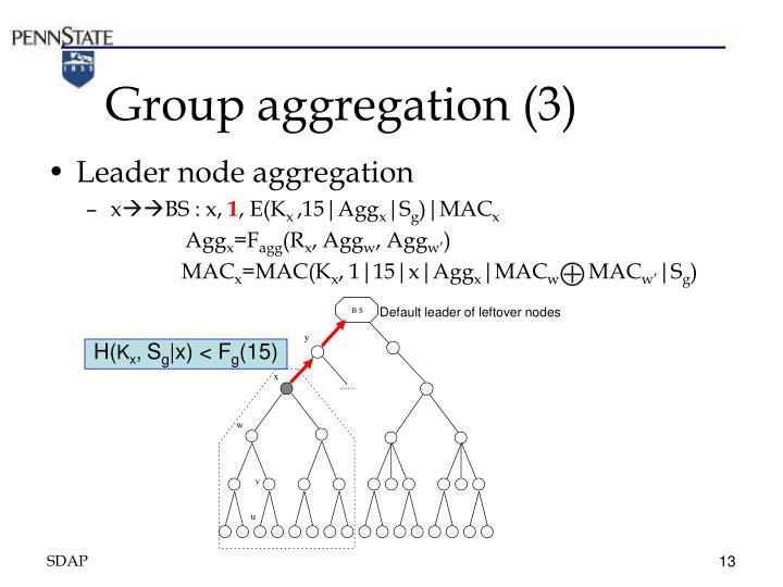 Group aggregation (3)