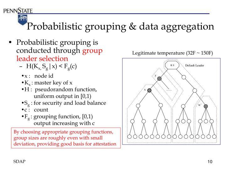 Probabilistic grouping & data aggregation