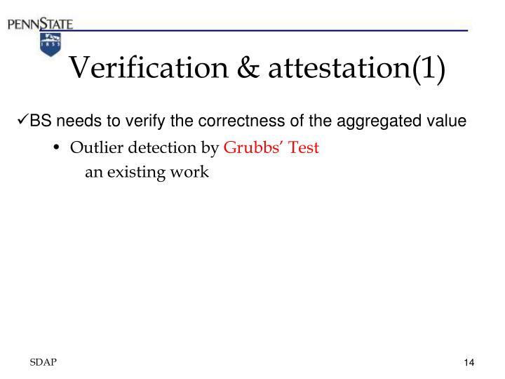 Verification & attestation(1)