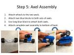 step 5 axel assembly