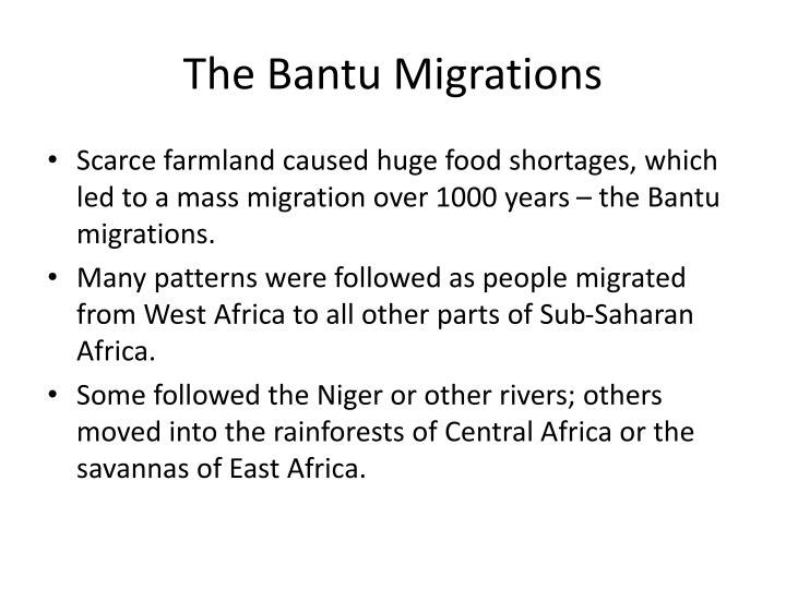 The Bantu Migrations