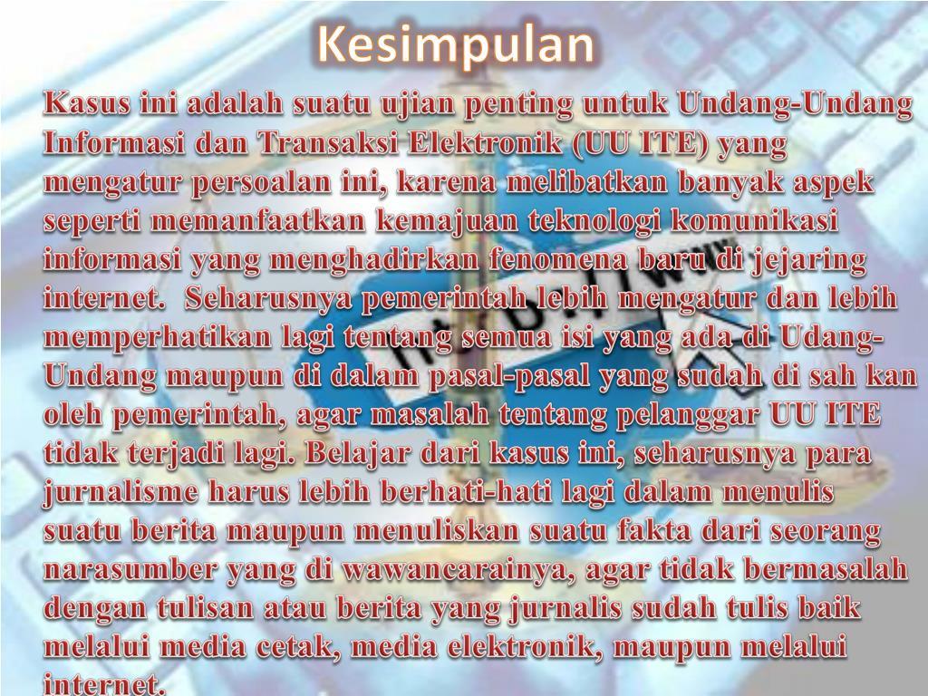 Ppt Kasus Kasus Pelanggaran Uu Ite Powerpoint Presentation Free Download Id 3823073