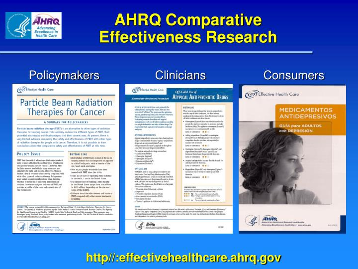 AHRQ Comparative  Effectiveness Research