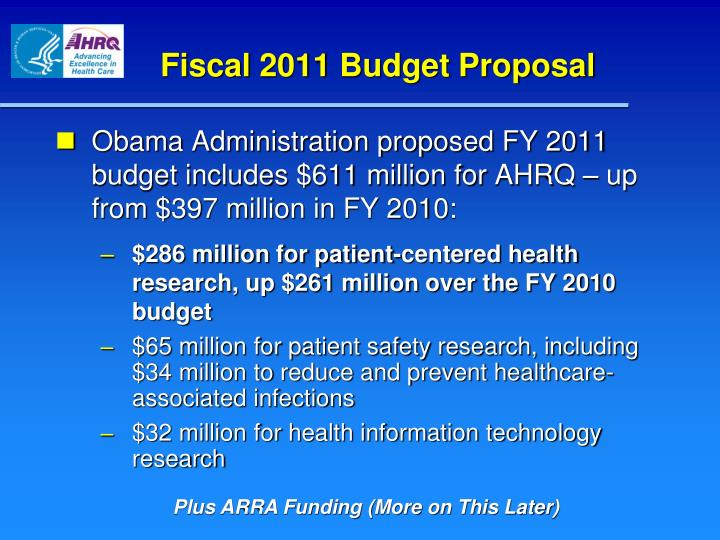 Fiscal 2011 Budget Proposal