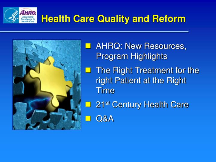 Health care quality and reform