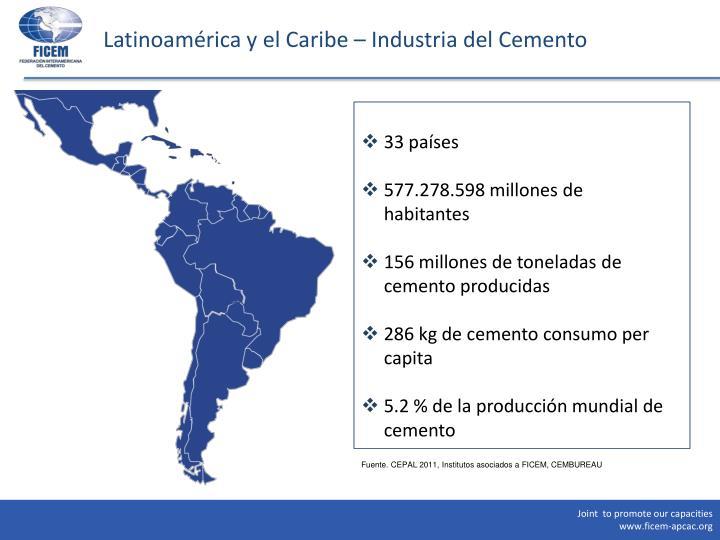 Latinoam rica y e l caribe industria del cemento